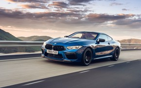 Picture speed, the evening, BMW, Coupe, Competition, UK-Spec, 2019, BMW M8, F92
