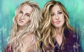 Picture girls, portrait, blonde