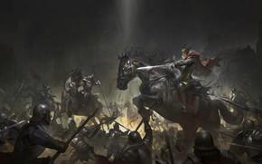 Picture Horse, Armor, Horse, Army, Battle, Swords, Mythology, War, Army, War, Illustration, Concept Art, Attack, Battle, …