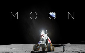 Picture The moon, Planet, Space, Earth, Astronaut, Astronaut, Moon, Art, Space, Art, Earth, Planet, Rover, Transport, …
