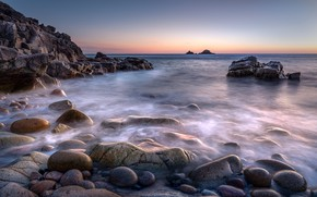Picture sea, water, stones