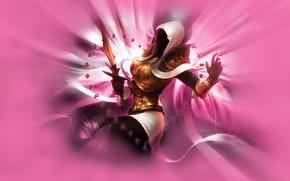 Picture girl, pink background, DiabloІІІ