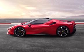 Picture asphalt, Ferrari, sports car, Road, SF90