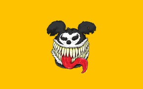 Picture Mickey Mouse, Illustration, Venom, Characters, We are Venom..., Guillermo Verdun, by Guillermo Verdun