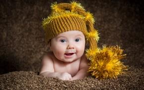 Picture look, child, cap, baby