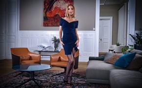 Picture chiseled figure, Poppy, Hungarian model, hypnosis long legs, плечики, темные чулки, все при ней, Poppy …