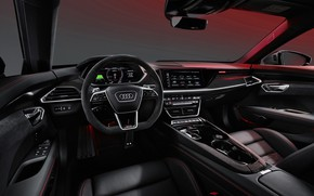 Picture design, Audi, interior, technology, sedan, luxury, display, electric, the interior of the car, Audi e-tron …