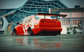 Picture Red, Auto, Retro, Machine, Tuning, Alfa Romeo, Red, Car, Rendering, Transport & Vehicles, by Sugar …