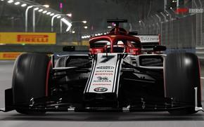 Picture track, racing car, Alfa Romeo C38, F1 2019