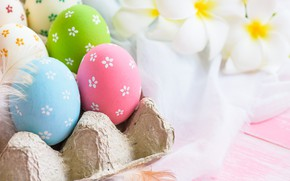 Picture flowers, eggs, Easter, flowers, spring, Easter, eggs, decoration, pastel colors