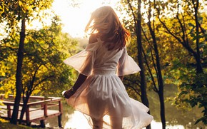 Picture water, the sun, light, Girl, dress, Rome Rome, Alexander Ivanov