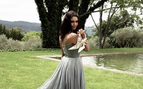 Picture look, nature, pose, pool, dress, beautiful, Nina Dobrev