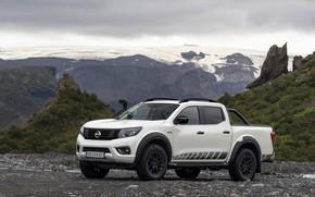 Picture white, hills, Nissan, pickup, Navara, 2020, Off Roader AT32