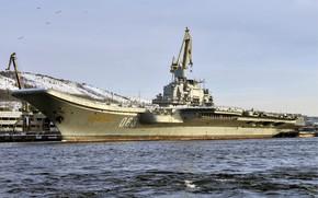 Picture pier, cruiser, heavy, aircraft carrier, Admiral Kuznetsov