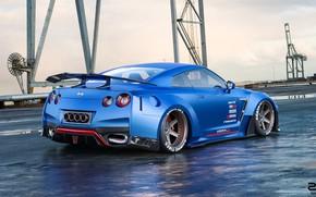Picture Auto, Blue, Machine, Nissan, GT-R, Car, Rendering, Nissan GT-R, Transport & Vehicles, Zoki Nanco, by …