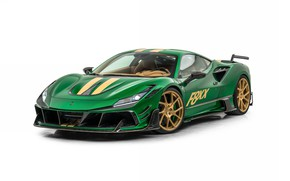 Picture tuning, white background, green, Mansory, F8XX
