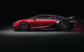 Picture Bugatti, side view, 2018, Sport, Chiron
