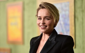 Picture look, pose, smile, actress, smile, view, hair, Emilia Clarke, pose, actress, Emilia Clarke