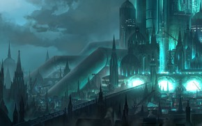 Picture night, the city, Final Fantasy VII, Final fantasy 7