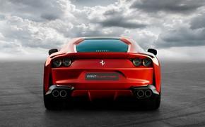 Picture Ferrari, supercar, rear view, Superfast, 812