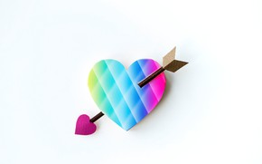 Picture heart, arrow, colorful