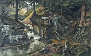 Picture Charles Ephraim Burchfield, 1934-43, Two Ravines