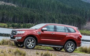 Picture forest, Ford, side, Everest, Limited, 4WD, 2015
