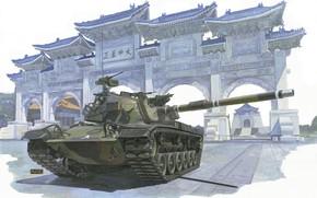 Picture Taiwan, main battle tank, M48 Patton, H.Sasaki & T.Kurokawa, ROC Army CM-11 MBT Brave Tiger