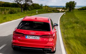 Picture road, red, Audi, universal, feed, 2019, A6 Avant, S6 Before