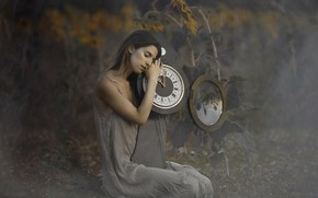 Picture girl, mood, watch