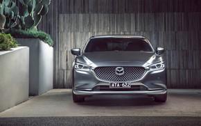 Picture Mazda 6, sedan, front view, 2018