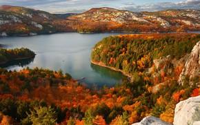 Picture autumn, lake, Canada, Ontario, Killarney Provincial Park, Парк штата Килларни