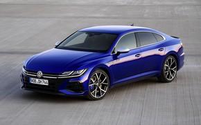 Picture blue, Volkswagen, liftback, four-door, 2020, Arteon, Arteon R