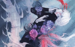 Picture anime, art, guy, Tokyo ghoul, The Kaneko Ken, Tokyo ghoul