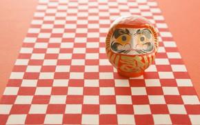 Picture happiness, red, Japan, gold, дарума, народные традиции, традиционная кукла, загадывание желаний, декоративно-прикладное искусство