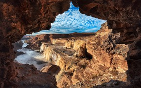 Picture landscape, nature, rocks, beauty, window