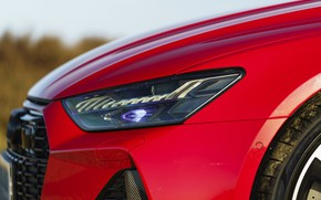 Picture red, Audi, the hood, RS 7, LED, 2020, UK version, RS7 Sportback
