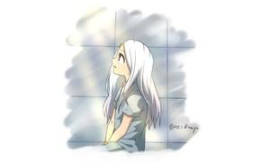 Picture girl, white hair, horn, Erie, Boku No Hero Academy, My Hero Academy