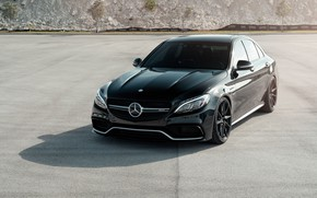 Picture Mercedes, AMG, Black, C63, W205