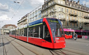 Picture The city, Tram, Avenue, The way