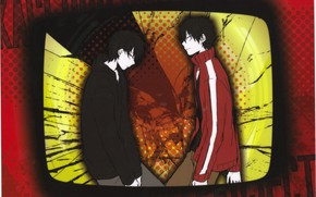 Picture frame, guy, screen, Kagerou Project