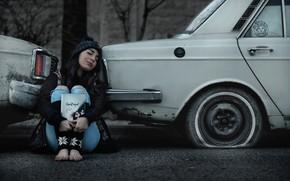 Picture auto, asphalt, girl, sleep, Iran, Siavosh Ejlali