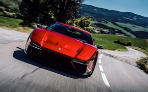 Picture coupe, front view, V10, De Tomaso Pantera, Hurricane, Lamborghini Huracan, 2020, two-door, Project1, Panther ProgettoUno, …