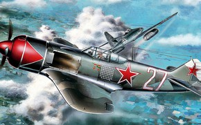 Picture La-7, The second World war, Luftwaffe, Me.262A-1a, Turbojet, THE RED ARMY AIR FORCE, I. N. ...