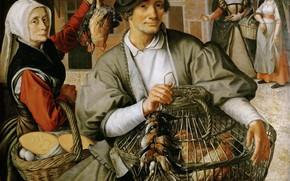 Picture picture, genre, Peter Artsen, Pieter Aertsen, Market Scene, circa 1560