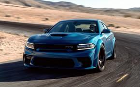 Picture Road, Asphalt, The hood, Dodge, Charger, Hellcat, SRT, 2020, Dodge Charger SRT, Hellcat widebody