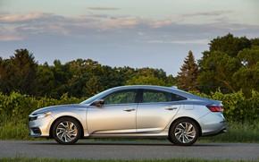 Picture Honda, sedan, side view, Hybrid, Insight, hybrid, Touring, four-door, 2019
