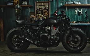 Picture garage, motorcycle, sport, yamaha, bike, garage