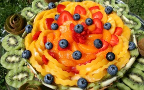 Picture fruit, dish, cuts