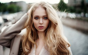 Picture look, pose, model, portrait, makeup, hairstyle, blonde, beauty, bokeh, Mariya, Galina Tcivina